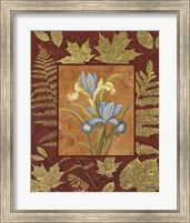 Framed Flowers With Leaf Border