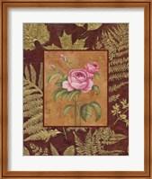 Framed Pink Flowers With Leaf Border