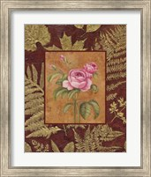 Framed Pink Flowers With Leaf Border