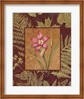 Framed Pink Flowers With Leaf Border 2