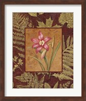 Framed Pink Flowers With Leaf Border 2