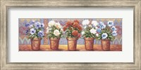 Framed Row Of Flower Pots - A