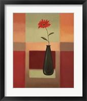 Black Vase 4 Framed Print