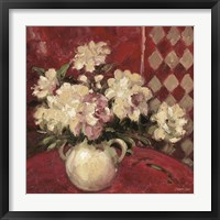 Peonies In Urn Framed Print