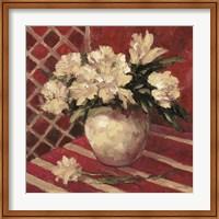Framed Peonies In Vase