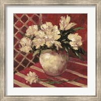 Framed Peonies In Vase
