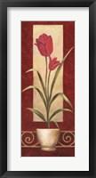 Tulips In Pot Framed Print