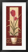 Framed Tulips In Pot