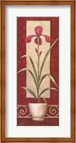 Framed Red Flower In Pot 2