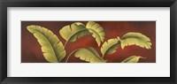 Palms On Burgundy 1 Framed Print