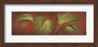 Framed Palms On Burgundy 2