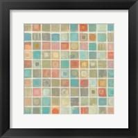 Framed Sea Glass Mosaic