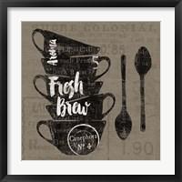 Linen Coffee III Framed Print