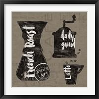 Linen Coffee IV Framed Print