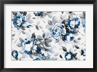 Framed Scent of Roses Indigo