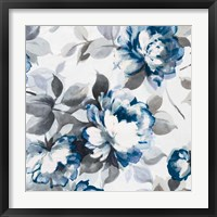 Framed Scent of Roses Indigo II