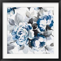 Framed Scent of Roses Indigo III