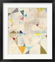 Geometric Background II Framed Print