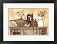 Framed Duck And Berry Still Life