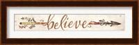 Framed Believe Arrow
