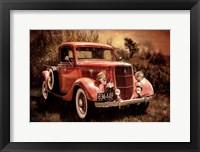 Framed Little Red Truck
