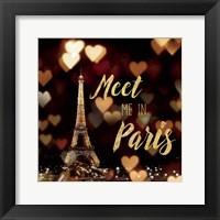 Framed Meet Me in Paris