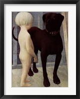 Framed Child And Dog