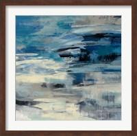 Framed Indigo Wave