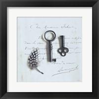 Framed Plume Letters III