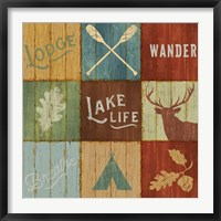 Lake Lodge VII Framed Print