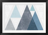 Mod Triangles I Blue Framed Print