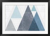 Framed Mod Triangles I Blue