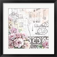 Paris Roses I Framed Print