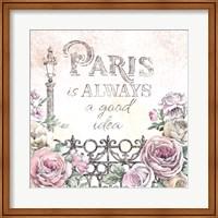 Framed Paris Roses IV