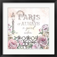 Framed Paris Roses IV