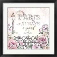 Paris Roses IV Framed Print