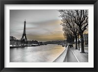 Framed River Seine And The Eiffel Tower