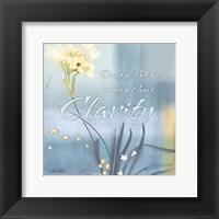 Framed Blue Floral Inspiration II