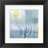 Blue Floral Inspiration II Framed Print