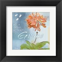 Framed Blue Floral Inspiration III