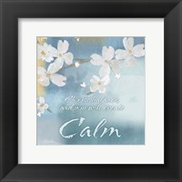 Framed Blue Floral Inspiration IV