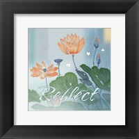 Blue Floral Inspiration V Framed Print