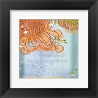 Framed Blue Floral Inspiration VI