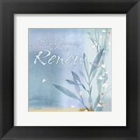 Framed Blue Floral Inspiration VII