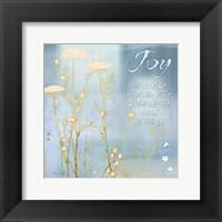 Blue Floral Inspiration VIII Framed Print