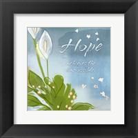 Framed Blue Floral Inspiration IX