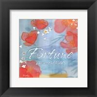 Framed Blue Floral Inspiration X