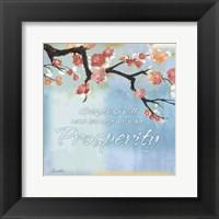 Framed Blue Floral Inspiration XI
