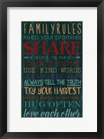 Spice Family Rules I Framed Print