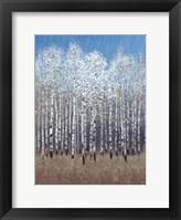 Cobalt Birches I Framed Print